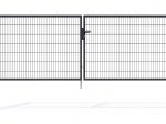 Nylofor Premium Double wide Swing Gate - 140cm Anthracite