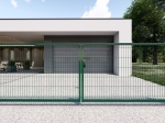 3D Essential Double wing Swing Gate - 123cm Green