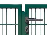 Nylofor Premium Double wide Swing Gate - 120cm Green