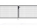 Nylofor Premium Double wide Swing Gate - 120cm Anthracite