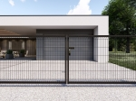 3D Essential Double wing Swing Gate - 123cm Anthracite