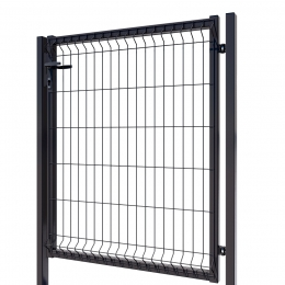 3D Essential Pedestrian Gate - Right Opening 123cm Anthracite