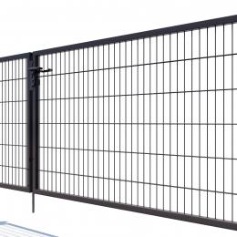 Brama dwuskrzydłowa Nylofor Premium - 120cm Antracytowa