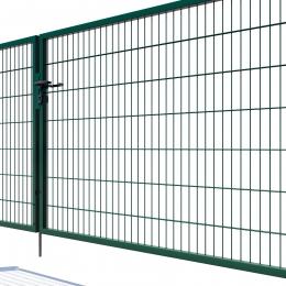 Brama dwuskrzydłowa Nylofor Premium - 140cm Zielona