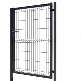 3D Essential Pedestrian Gate - Right Opening 153cm Anthracite