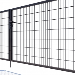 Brama dwuskrzydłowa Nylofor Premium - 140cm Antracytowa